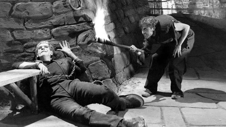 Boris Karloff and Dwight Frye in Frankenstein