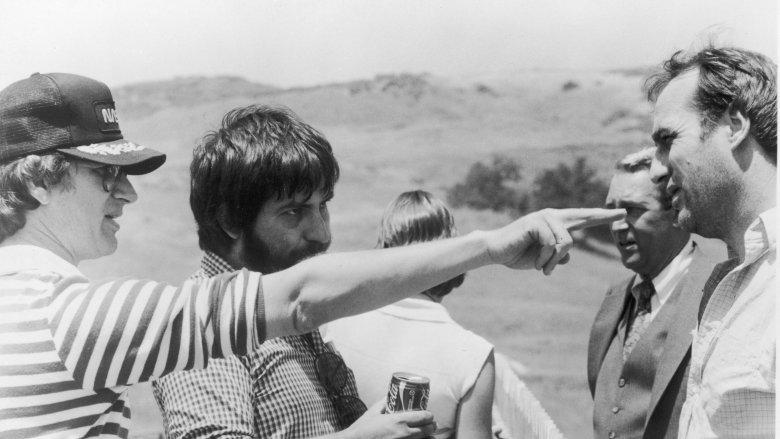 Steven Spielberg and Tobe Hooper on set of Poltergeist